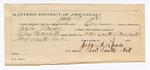 1888 July 20: Voucher, U.S. v. Walter Massey, threatening to kill; includes cost of mileage and warrant; Charles Barnhill, deputy marshal; John Carroll, U.S. marshal; W.S. Gamel, One Bennett, One Walker, witnesses; John A. Spain, guard; Ed Haglin, deputy clerk