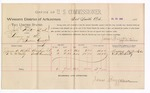 1888 July 27: Voucher, U.S. v. John White et al., larceny; includes cost of per diem and mileage; James A. Bickle, V.N. McNally, witnesses; John Carroll, U.S. marshal; James Brizzolara, commissioner