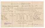 1888 July 23: Voucher, U.S. v. Sam Goodin, larceny; includes cost of per diem and mileage; Bose West, O. Elrod, Tom Smith, Edwin Bells, Mary Campbell, witnesses; John Carroll, U.S. marshal; James Brizzolara, commissioner