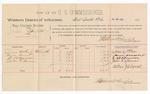 1888 July 28: Voucher, U.S. v. Jim Garrett, larceny; includes cost of per diem and mileage; James Adkins, Sam Smart, E.B. Burner, John L. Bounes, witnesses; John Carroll, U.S. marshal; Stephen Wheeler, commissioner