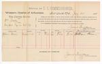 1888 July 30: Voucher, U.S. v. William Soddy, introducing spiritous liquor; includes cost of per diem and mileage; William Brown, witness; John Carroll, U.S. marshal; James Brizzolara, commissioner