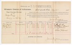 1888 July 30: Voucher,  U.S. v. George Thorne, larceny; includes cost of per diem and mileage; F.M. Gault, William Sims, J.R. Johnson, witnesses; John Carroll, U.S. marshal; James Brizzolara, commissioner