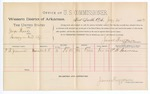1888 July 30: Voucher, U.S. v. George Thorne, larceny; includes cost of per diem and mileage; P.B. Gremore, witnesses; John Carroll, U.S. marshal; James Brizzolara, commissioner