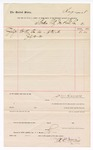 1888 July 31: Voucher, to Border City Ice and Coal Co.; includes cost for ice; John Carroll, U.S. marshal; R.C. McGill, signature for ice company