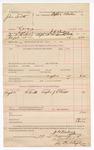 1888 August 29: Voucher, U.S. v. John Smith, larceny; includes cost of warrant and subpoena for witness; Stephen Wheeler, commissioner; J.K. Barling, deputy marshal; J.S. Bowers, witness; Ed Haglan, deputy clerk