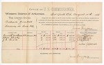 1888 August 14: Voucher, U.S. v. Richard Kimball, larceny; includes cost of mileage; Kenneth Matheson, Nelson Quigley, J.C. Brock, witnesses; James Brizzolara, commissioner; John Carroll, U.S. marshal