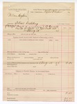 1888 August 15: Voucher, U.S. v. William Cogburn, illicit distilling; includes cost of warrant; J.C. Carroll, deputy marshal; Stephen Wheeler, commissioner