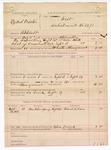 1888 September 14: Voucher, U.S. v. Ezekiel Proctor, assault; includes cost of mileage and warrant; B. Connelley, deputy marshal; Frank K. Wilson, witness