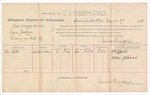 1888 August 17: Voucher, U.S. v. Lewis Jackson, larceny; includes cost of per diem and mileage; Abe Coats, witness; John Carroll, U.S. marshal; James Brizzolara, commissioner