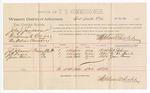 1888 August 20: Voucher, U.S. v. John J. Jackson, threatening to kill; includes cost of per diem and mileage; J.A. Johnson, J.W. Davis, Jesse Brown, witnesses; Stephen Wheeler, commissioner; John Carroll, U.S. marshal