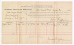 1888 August 20: Voucher, U.S. v. Lewis Jackson, larceny; includes cost of per diem and mileage; Jackson Ellis, witness; John Carroll, U.S. marshal; James Brizzolara, commissioner
