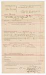 1888 August 29: Voucher, U.S. v. Charles Ragsdale, larceny; includes cost of mileage and feeding prisoner; A.J. Fryer, deputy marshal; John Carroll, U.S. marshal; Charles H. Low, B.J. Hampton, witnesses; Stephen Wheeler, commissioner; Ed Haglin, deputy clerk