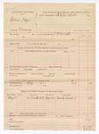 1888 August 21: Voucher, U.S. v. Isaac Frazier, larceny; includes cost for discharging prisoner; J.C. Carroll, deputy marshal; Stephen Wheeler, commissioner; Wesley Crawford, witness
