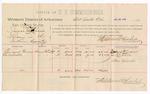 1888 August 21: Voucher, U.S. v. Isaac Frazier, larceny; includes cost of per diem and mileage; Emanuel Bruner, One Arbuckle, witnesses; J.C. Carroll, U.S. marshal; Stephen Wheeler, commissioner