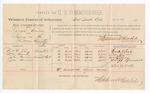 1888 August 21: Voucher, U.S. v. Isaac Frazier, larceny; includes cost of per diem and mileage; Fred O. Lee, William Cook, John Bruner, Joe Bruner, witnesses; John Carroll, U.S. marshal; Stephen Wheeler, commissioner