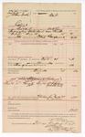 1888 August 30: Voucher, U.S. v. J. William Speck, contempt; includes cost of mileage and feeding prisoner; W.H. Carr, deputy marshal; John Carroll, U.S. marshal, in  subpoenas served to: William F. Harman, J.W. Flaharty, witnesses; Ed Haglin, deputy clerk