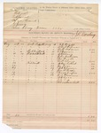 1888 August 29: Voucher, includes cost of mileage to witnesses; J.K. Barling, deputy marshal; D.D. Wright, Albert Coleman, Matt Adams, E.S. Berman, W.P. Cherry, John Kesterson, James Woods, Robert Cherry, Nathan Colbert, Joe Frye, W.N. Harrison, Jim McBride, Wise A. Cooper, U.A. Thomas, W.H. Carr, J.B. Lea, Charles Barnhill, witnesses called before grand jury