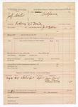 1888 August 31: Voucher, U.S. v. Jeff Carter, robbing U.S. mail; includes cost of subpoena for witnesses; J.W. Ellis, deputy marshal; James Ward, Abe Ward, Rebecca Busby, witnesses