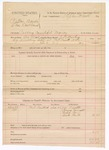 1888 December 24: Voucher, U.S. v. Patton Banks and Thomas Lackland, passing counterfeit money; includes cost of warrant and subpoena for witnesses; J.K. Barling, deputy marshal; James Smith, Henry Durratt, Wiley Cox, Bud Bell, witnesses; Stephen Wheeler, commissioner