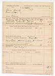 1888 December 1: Voucher, U.S. v. Dennis Bean and Earnest Sloave, larceny; includes cost of mileage and feeding prisoner; J.K. Barling, deputy marshal; Robert Barling, posse comitatus