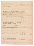 1888 October 18: Voucher, U.S. v. J.M. Speck, larceny; includes cost of warrant and subpoena for witnesses; J.K. Barling, deputy marshal; Stephen Wheeler, commissioner; John Hughes, Lewis Bolin, G.P. Martin, witnesses