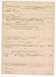 1888 October 18: Voucher, U.S. v. Sam Green, murder; includes cost of warrant and subpoena for witness; J.K. Barling, deputy marshal; Stephen Wheeler, commissioner; Dr. J.D. Blackmon, witness