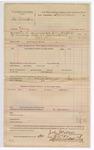 1888 October 24: Voucher, U.S. v. George Blackburn, larceny; includes cost of warrant and discharging prisoner; John McAllister, deputy marshal; John Carroll, U.S. marshal; Stephen Wheeler, commissioner