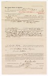 1888 October 11: Voucher, to H.W. Parks, of Fort Smith, Arkansas, for assisting J.D. Parks, deputy marshal, in U.S. v. George Balstead and U.S. v. William Bayers; John Carroll, U.S. marshal; James Brizzolara, commissioner; Stephen Wheeler, clerk