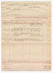 1888 November 17: Voucher, U.S. v. William Spinar, assault with intent to kill; includes cost of mileage; John McAllister, deputy marshal; William Shednick, William Huckeby, W.F. Brownes, witnesses; W.G. Kimbeshire, William Clanday, witnesses in U.S. v. Poley Impson, assault with intent to kill; Will Muskill, Thomas Adkins, witnesses in U.S. v. Gill Dillard, larceny; Phillip Hendrix, witnesses in U.S. v. Ed Elliott, larceny