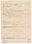 1888 October 14: Voucher, U.S. v. Mary Morgan, contempt; includes cost of warrant and discharging prisoner; J.K. Barling, deputy marshal
