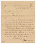 1888 September 18: Letter, to M.H. Sandels, district attorney, from E. Harrison, commissioner, requesting duplicate copy of term report