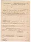 1888 October 16: Voucher, U.S. v. Thomas Bull, larceny; includes cost of mileage and feeding prisoner; John McAllister, deputy marshal; James Brizzolara, commissioner; Charles Smith, Andy Welch, Jeff Cannon, witnesses
