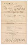 1889 June 30: Voucher, U.S. v. John Dennis, larceny; includes cost of mileage; John Swain, deputy marshal; John Carroll, U.S. marshal