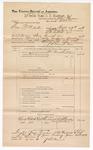 1889 June 30: Voucher, U.S. v. Dan McAllister, introducing spiritous liquor; John Swain, deputy marshal; John Carroll, U.S. marshal; W.W. Bradley, J.H. Burr, witnesses; James Brizzolara, commissioner; includes cost of mileage; Jacob Yoes, U.S. marshal; George F. Gates, clerk