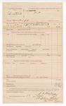 1888 October 22: Voucher, U.S. v. Lona White, contempt; includes cost for warrant; J.K. Barling, deputy marshal; Stephen Wheeler, clerk; I.M. Dodge, deputy clerk