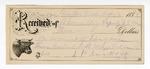 1888 October 17: Voucher, U.S. v. James Yergan, contempt; includes cost of railroad fare and horse hire; B. Connelley, deputy marshal; Stephen Wheeler, clerk; I.M. Dodge, deputy clerk