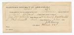 1888 October 18: Voucher, U.S. v. Gill Dillard, larceny; includes cost of mileage and feeding prisoner; John McAllister, deputy marshal; Stephen Wheeler, commissioner; James Flanigan, J.C. Norvill, witnesses; J. Casey, guard