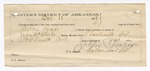 1888 October 18: Letter of certification, from Jasper Spencer, guard, certifying his employment guarding over Charles Read, U.S. prisoner; John McAllister, deputy marshal; attached to Voucher, U.S. v. Charles Read, introducing spirituous liquors ; includes cost of warrant, mileage, and feeding prisoner; Stephen Wheeler, commissioner
