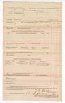1888 October 22: Voucher, U.S. v. A.J. Blackwell, murder ; includes cost of subpoena for witnesses; John McAllister, deputy marshal; Jesse Cochran and John Smith, witnesses; Stephen Wheeler, commissioner