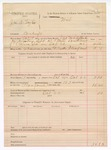 1888 October 22: Voucher, U.S. v. James A. Taylor, counterfieting ; includes cost of warrant, mileage, and feeding prisoner; John McAllister, deputy marshal
