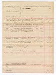 1888 October 22: Voucher, U.S. v. W.C. Cromwell, counterfieting ; includes cost of warrant, mileage, and feeding prisoner; John McAllister, deputy marshal