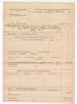 1888 October 20: Voucher, U.S. v. William Andrews, larceny ; includes cost of committing to jail; Stephen Wheeler, commissioner; J.K. Barhing, deputy marshal