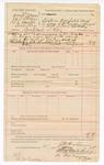 1889 January 2: Voucher, U.S. v. Arnold O'Bryan, John C. O'Bryan, T.L. Daniells, and Oliver Hog, complaint at law ; includes cost of warrant and mileage; J.M. Barter, deputy marshal; Stephen Wheeler, clerk; J.M. Dove; C.M. Cooke