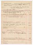1888 November 5: Voucher, U.S. v. Homer Qualls, retail liquor dealer ; includes cost of warrant, mileage, and feeding prisoner; Stephen Wheeler, commissioner; J.H. Pounds, deputy marshal; Van James and A.C. Houston, witnesses