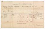 1888 October 31: Voucher, U.S. v. George Brooks, larceny; includes cost of per diem and mileage; L.L. Schueppe, Thomas M. Smith, ans E.B. Bonner, witnesses; John Carroll, U.S. marshal; James Brizzolara, commissioner