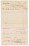1888 October 31: Voucher, to F.H. Hydley, of Fort Smith Gas Light Company; includes cost of gas for month of October; John Carroll, U.S. marshal