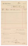 1888 November 1: Voucher, to Water Works Plumbing Company; includes cost of repairs on water pipe; John Carroll, U.S. marshal