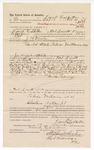 1889 January 14: Voucher, to Frank Ledbetter, of Fort Smith, Arkansas, for assisting J.M. Ennis, deputy marshal, in U.S. v. Tobias Williams, William Christian, and Jack Crittendan; James Brizzolara and Stephen Wheeler, commissioners; John Carroll, U.S. marshal
