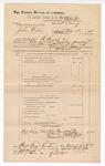 1889 June 30: Voucher, U.S. v. John Wilson, larceny; includes cost of subpoena for witnesses; J.M. Ernis, deputy marshal; Stephen Wheeler, commissioner; Mary Lee, Walter Parks, and William Goforth, witnesses