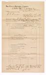 1889 June 30: Voucher, U.S. v. T.L. Darrell, larceny; includes cost of travel expenses; John Carroll, U.S. marshal; John Swain, deputy marshal